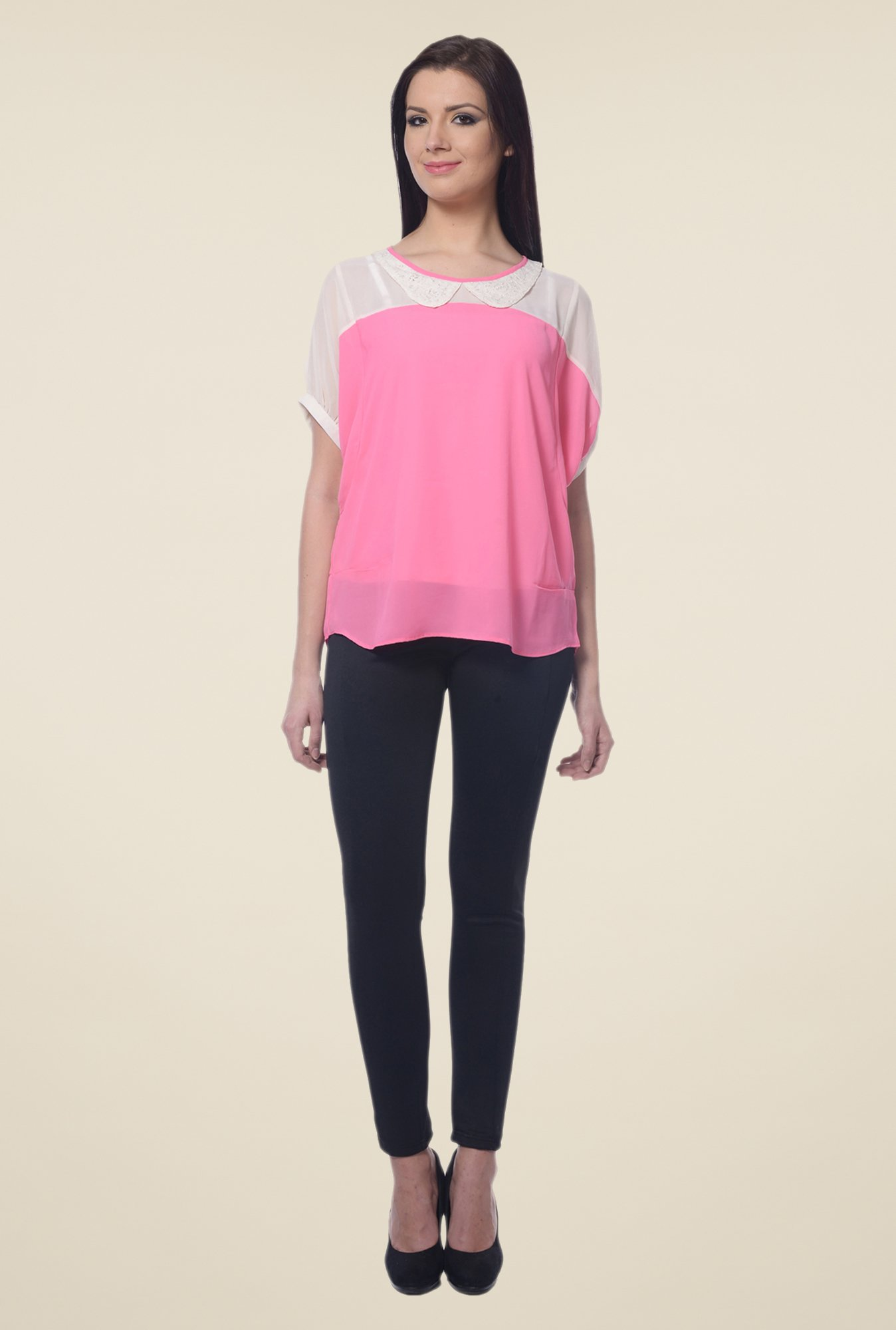 Forever Fashion Pink & White Top