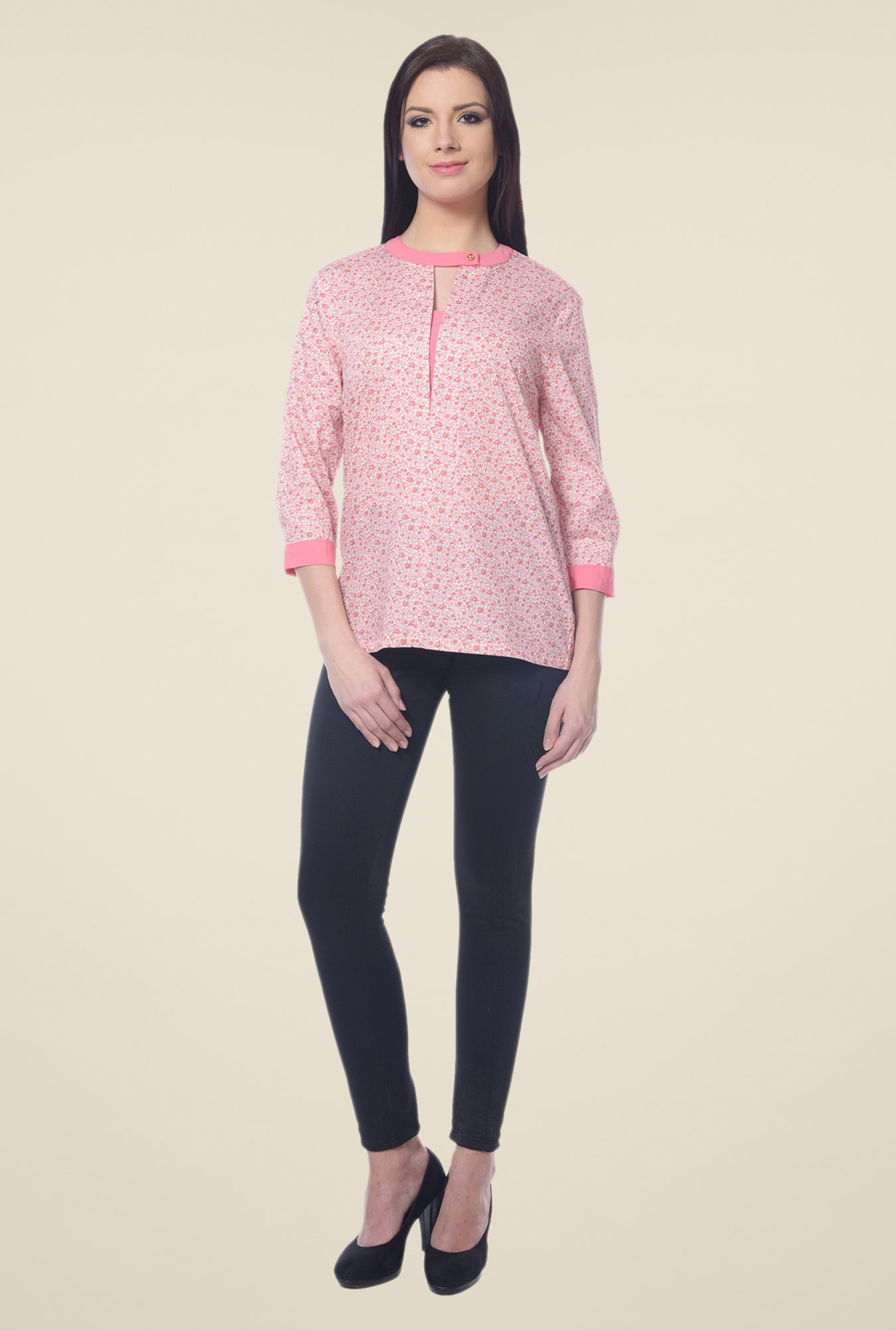 Forever Fashion Pink Floral Print Top