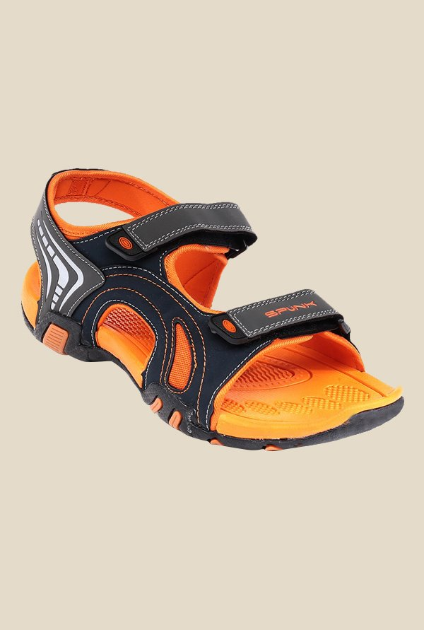 Spunk Durham Navy & Orange Floater Sandals