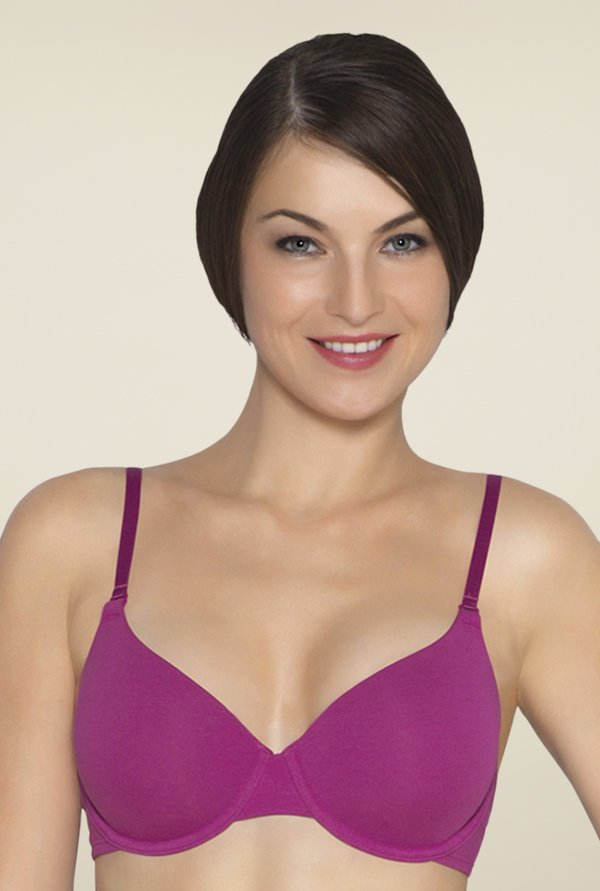 Amante Dark Pink Padded Underwired T Shirt Bra