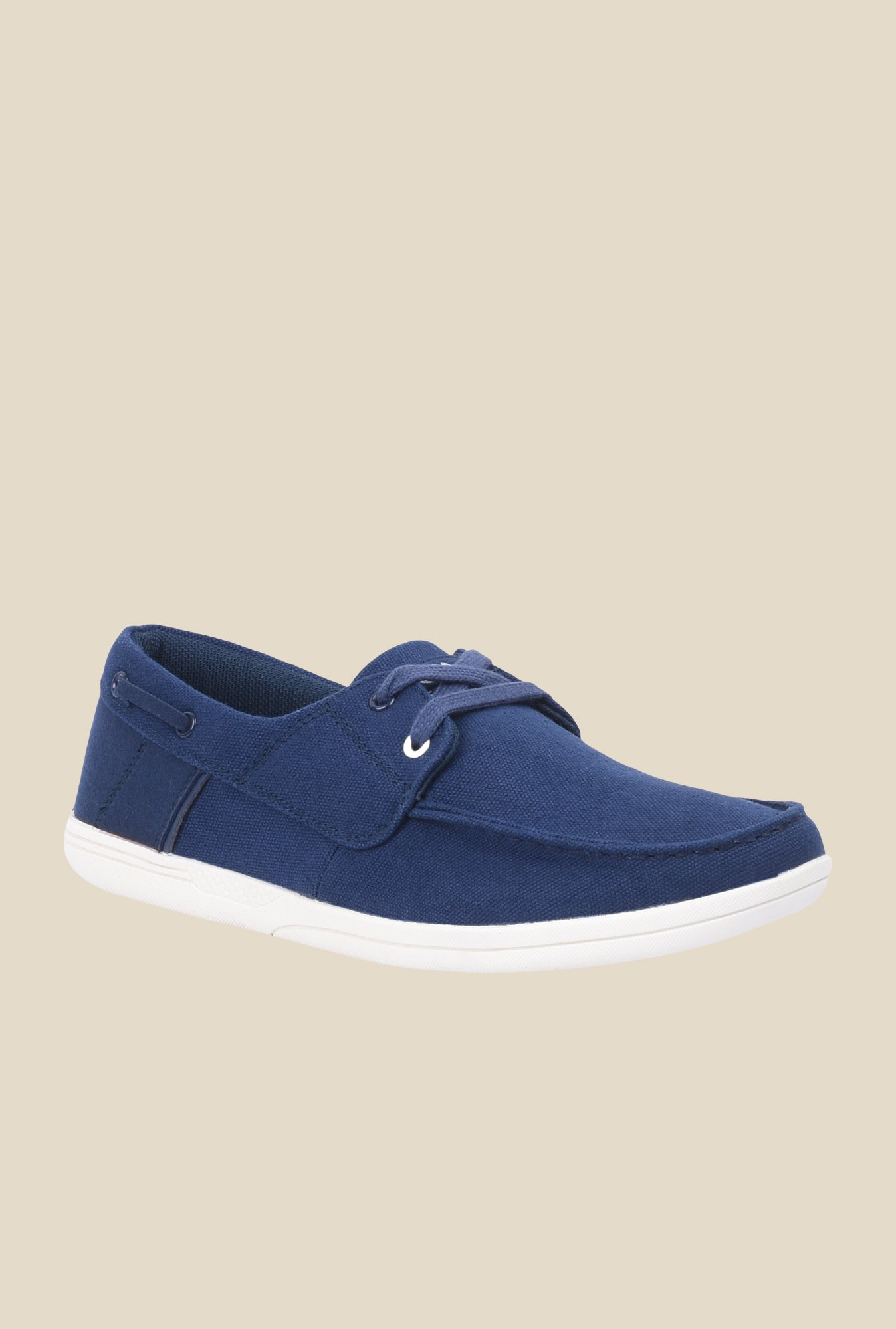 Spunk Duke Navy & White Boat Shoes