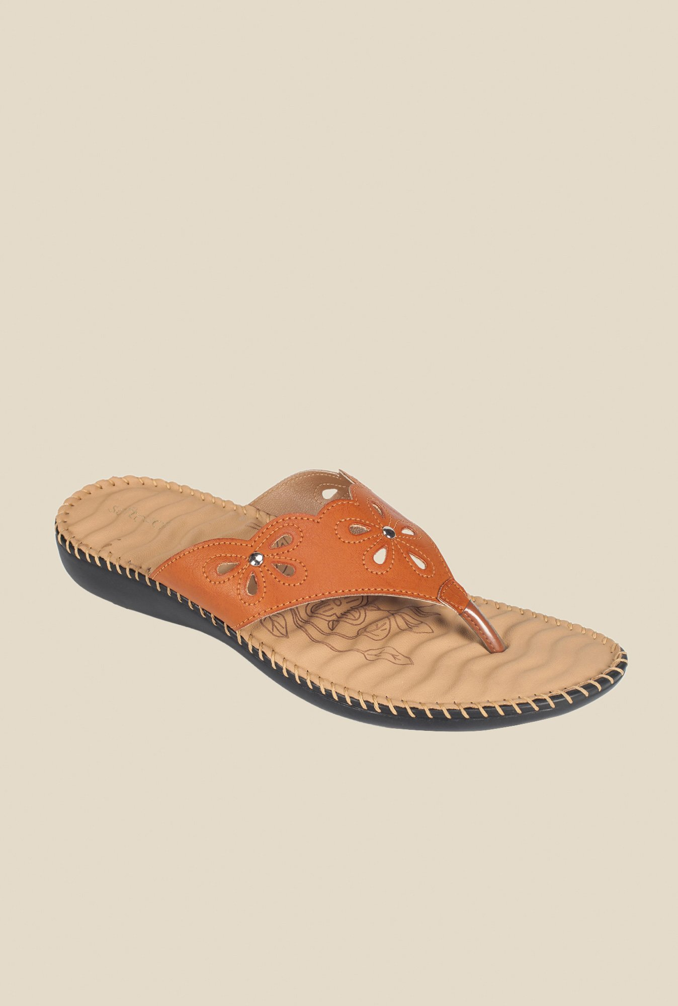 Khadim's Tan Thong Sandals
