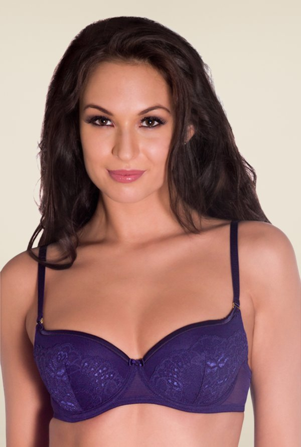 Amante Purple Padded Balconette Bra