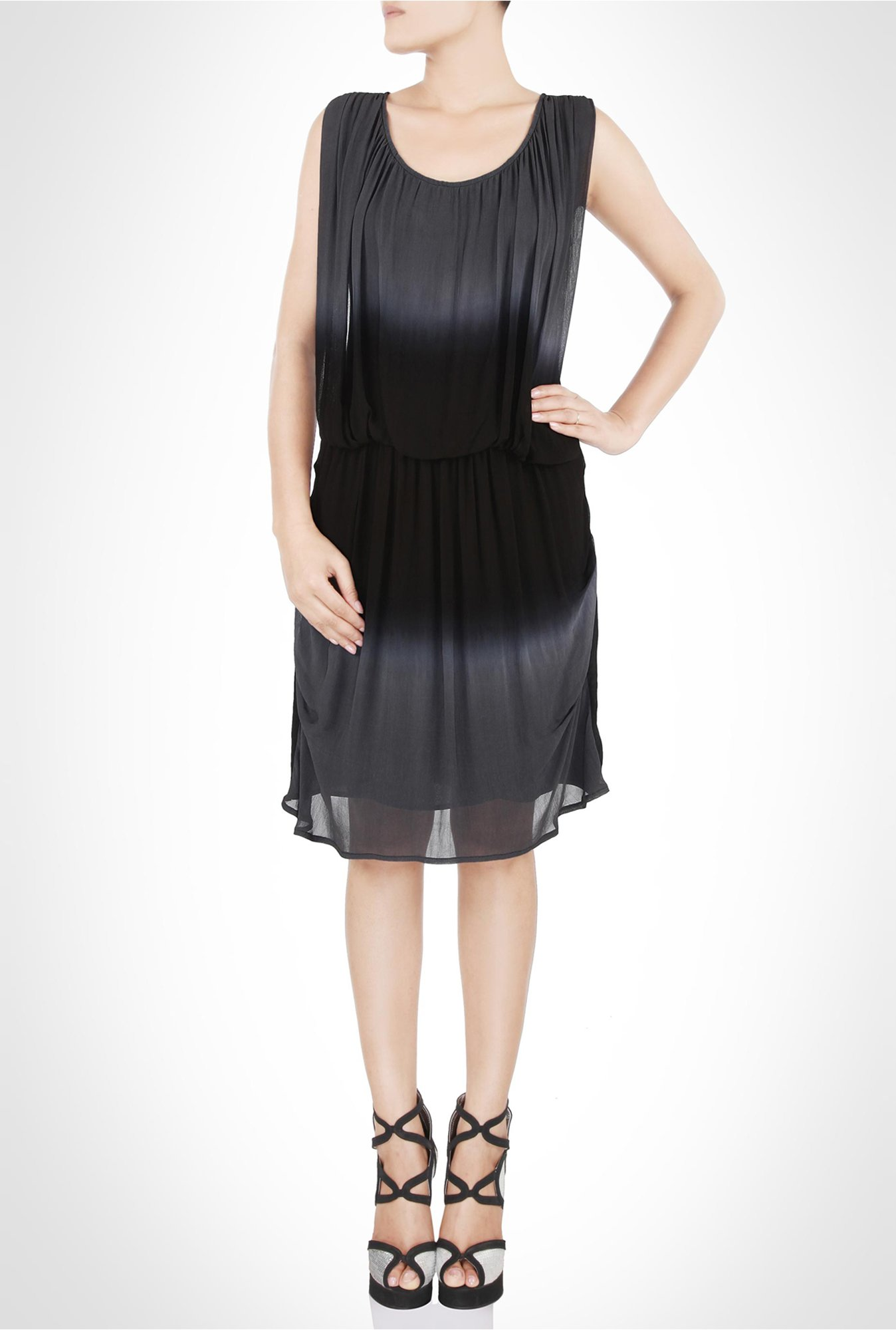 Rinku Dalmal Designer Wear Black Ombre Dress by Kimaya
