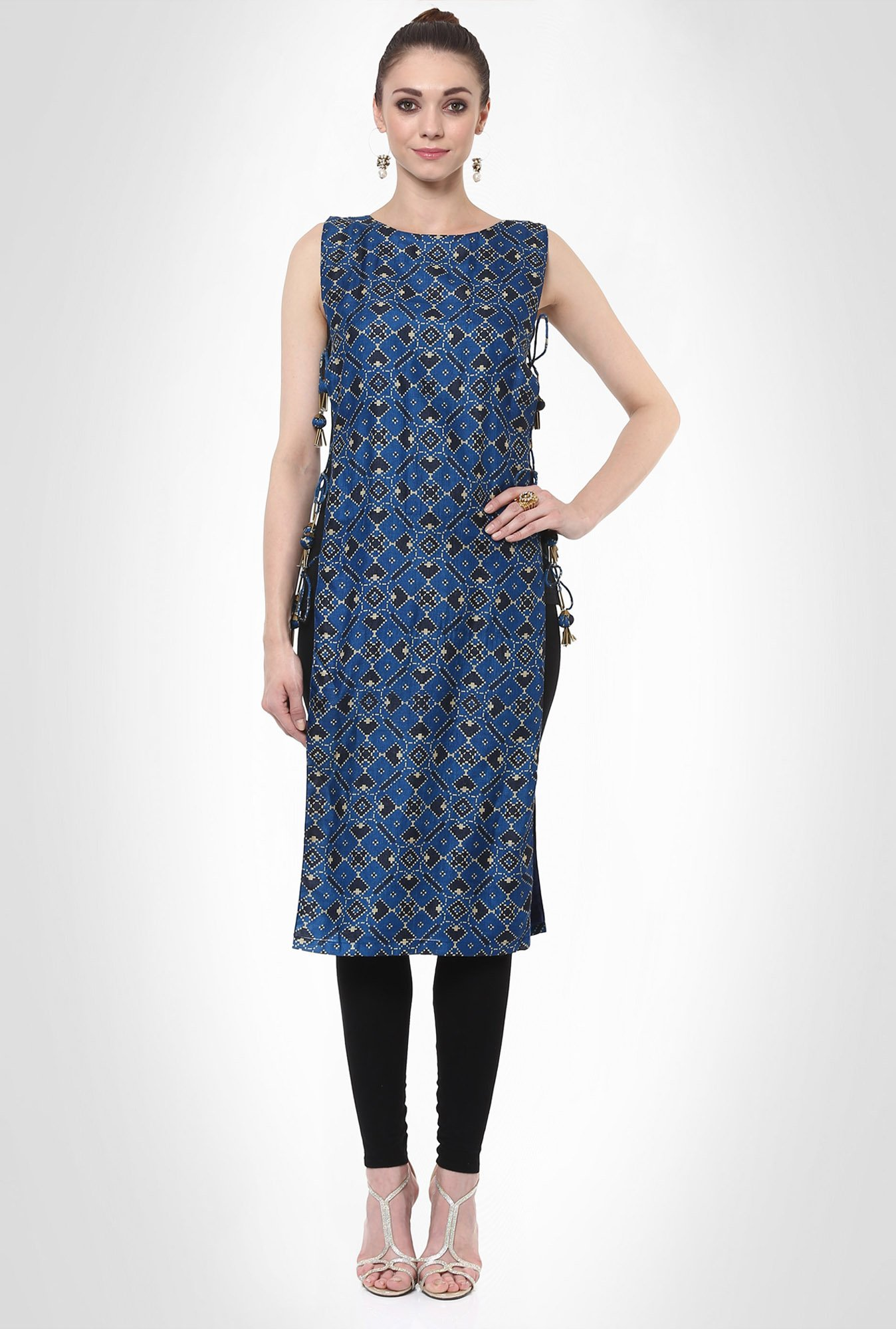 Avisha The Right Cut Designer Wear Blue Kurti by Kimaya