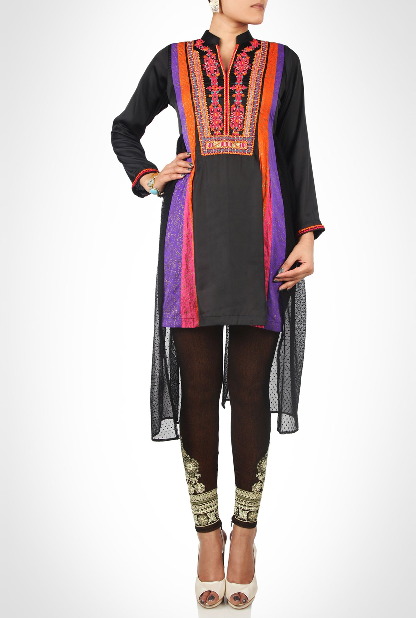 Huma Adnan Designer Wear Black Kurti by Kimaya