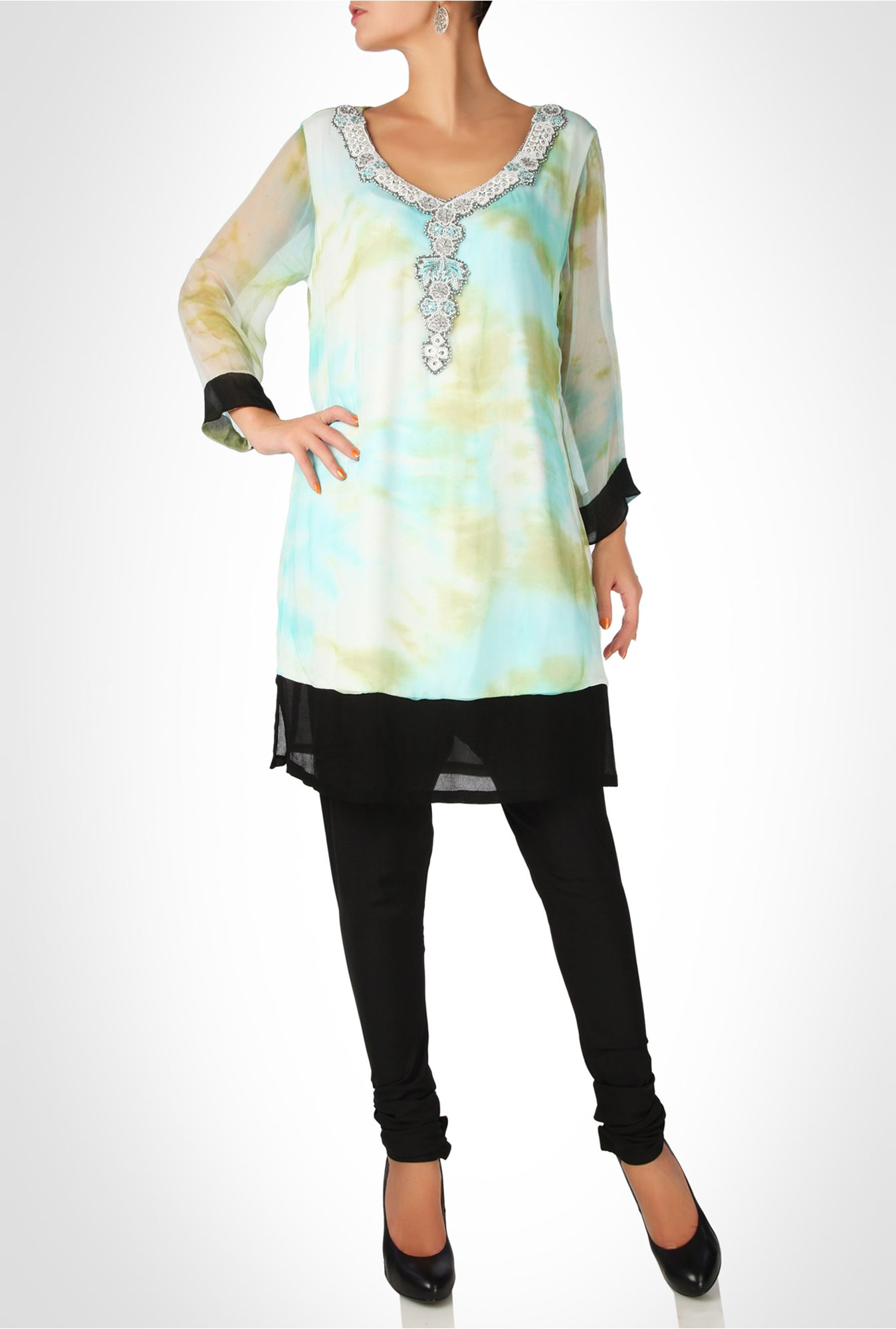 Arpan Vohra Designer Wear Multicolor Tunic by Kimaya