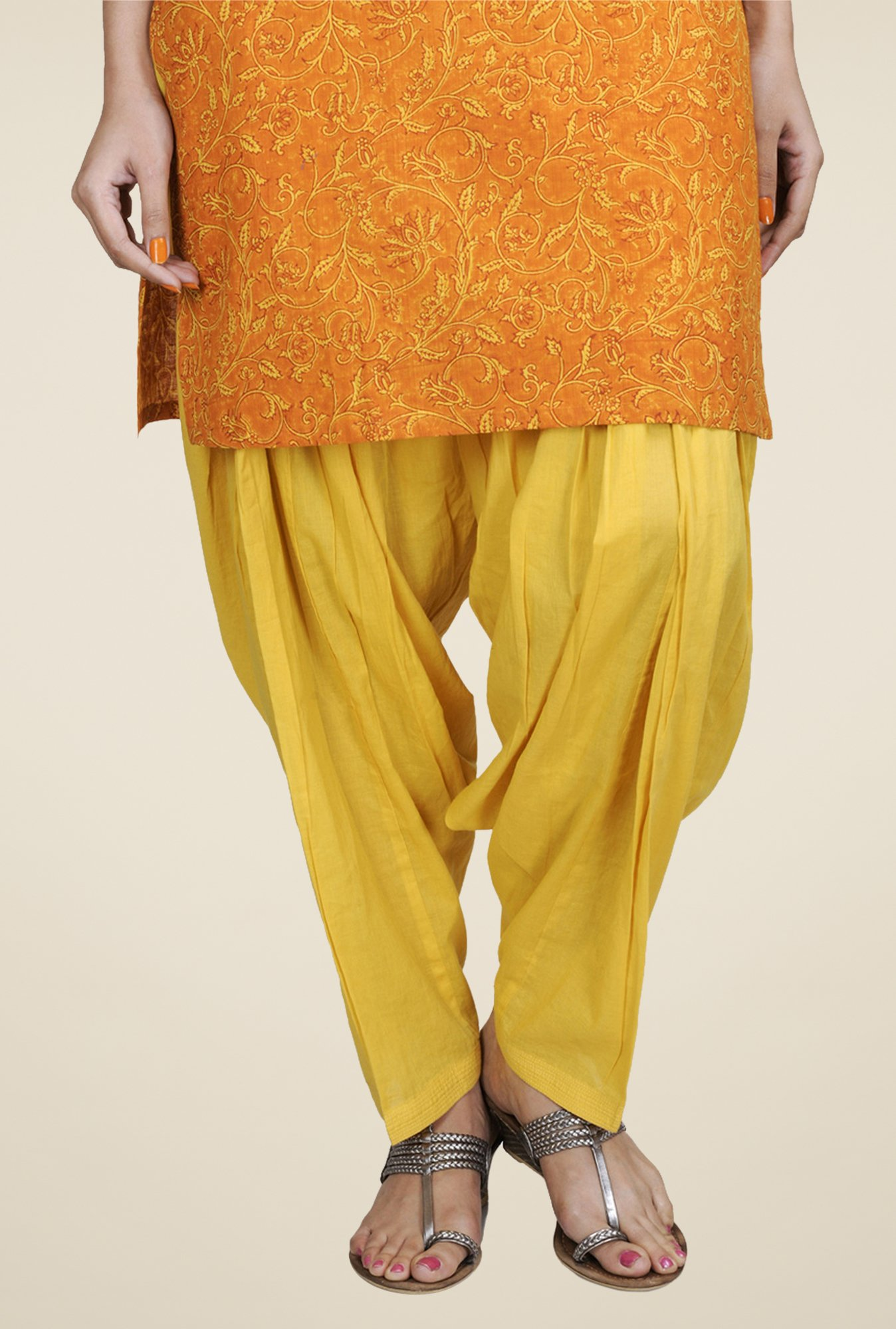 Fabindia Yellow Solid Patiala