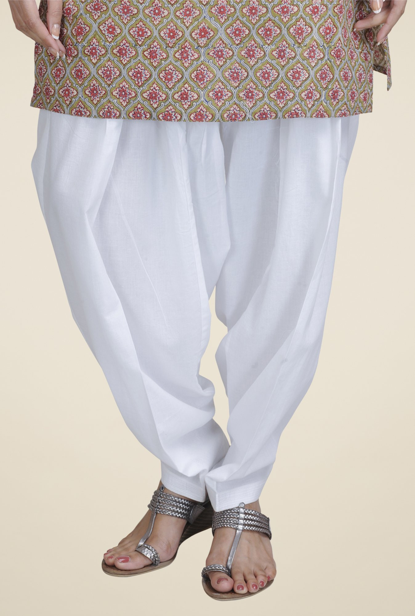 Fabindia White Solid Patiala