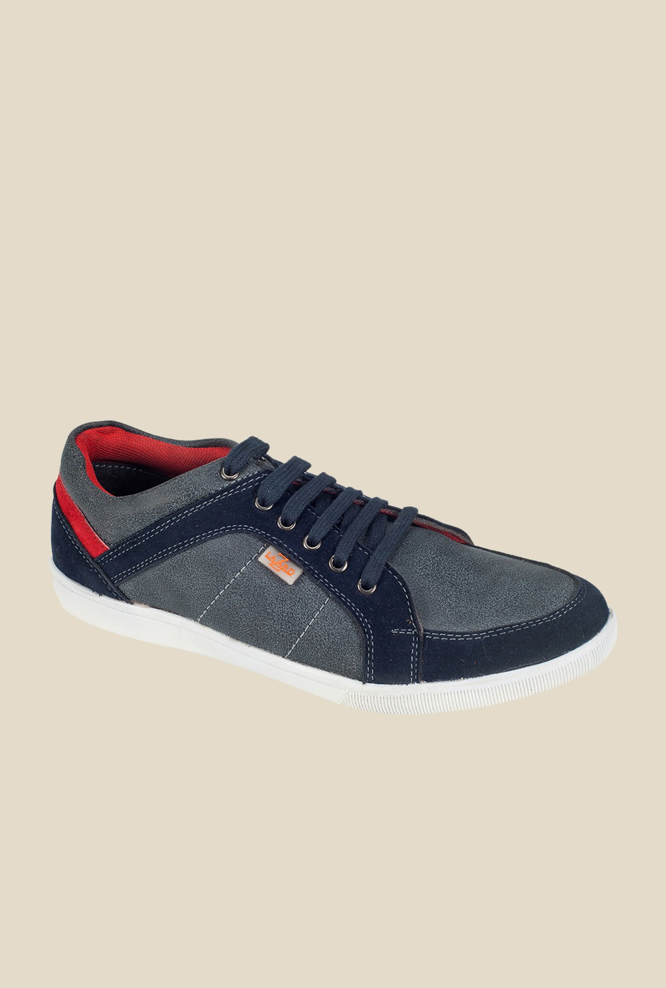 Khadim's Lazard Grey & Navy Running Shoes