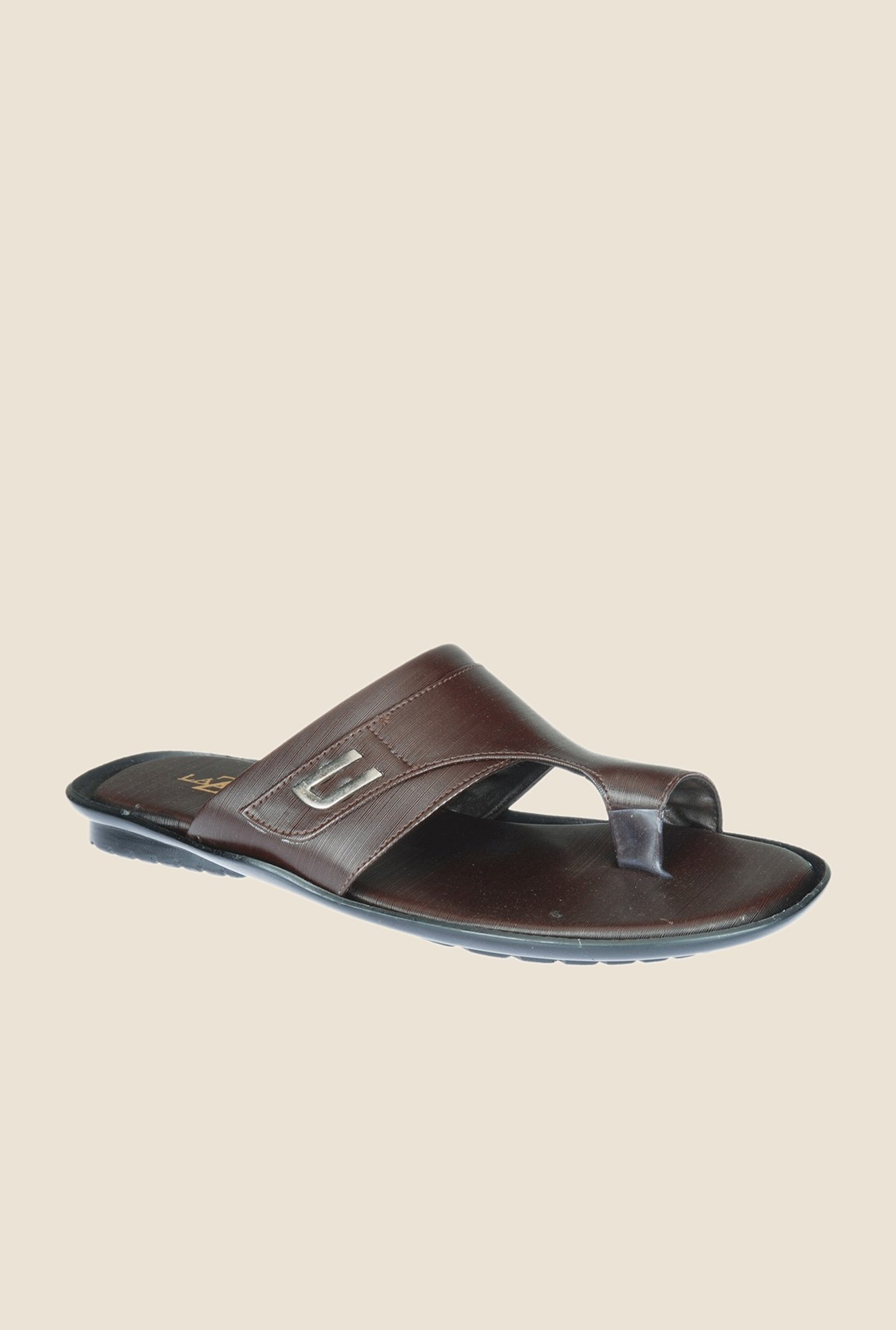 Khadim's Brown Casual Sandals