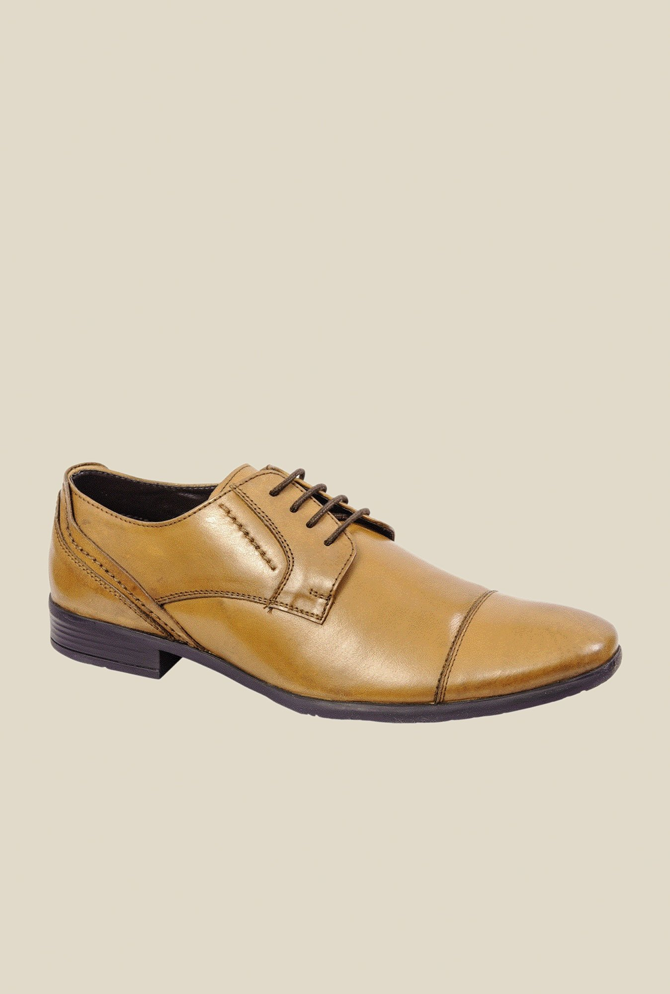 Khadim's Tan Derby Shoes