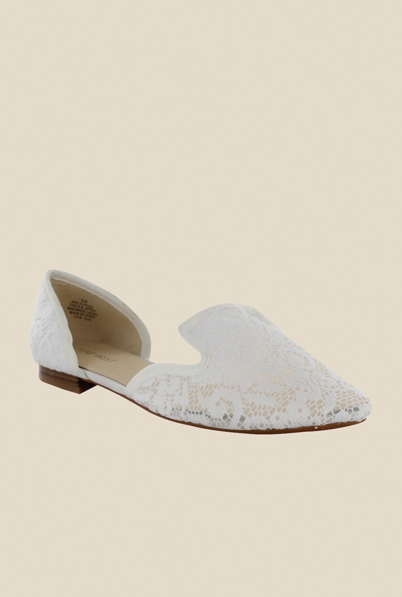 Nine West White D'orsay Sandals