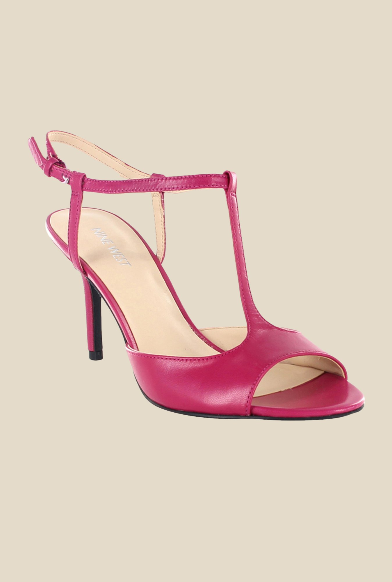 Nine West Pink Back Strap Sandals