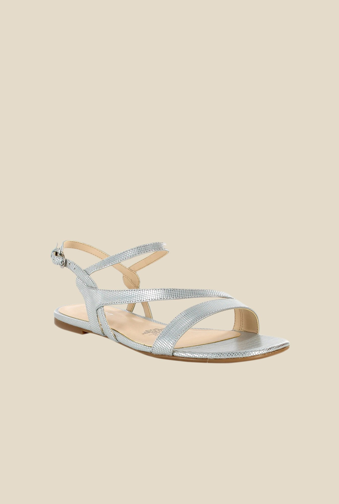Nine West Silver Back Strap Sandals