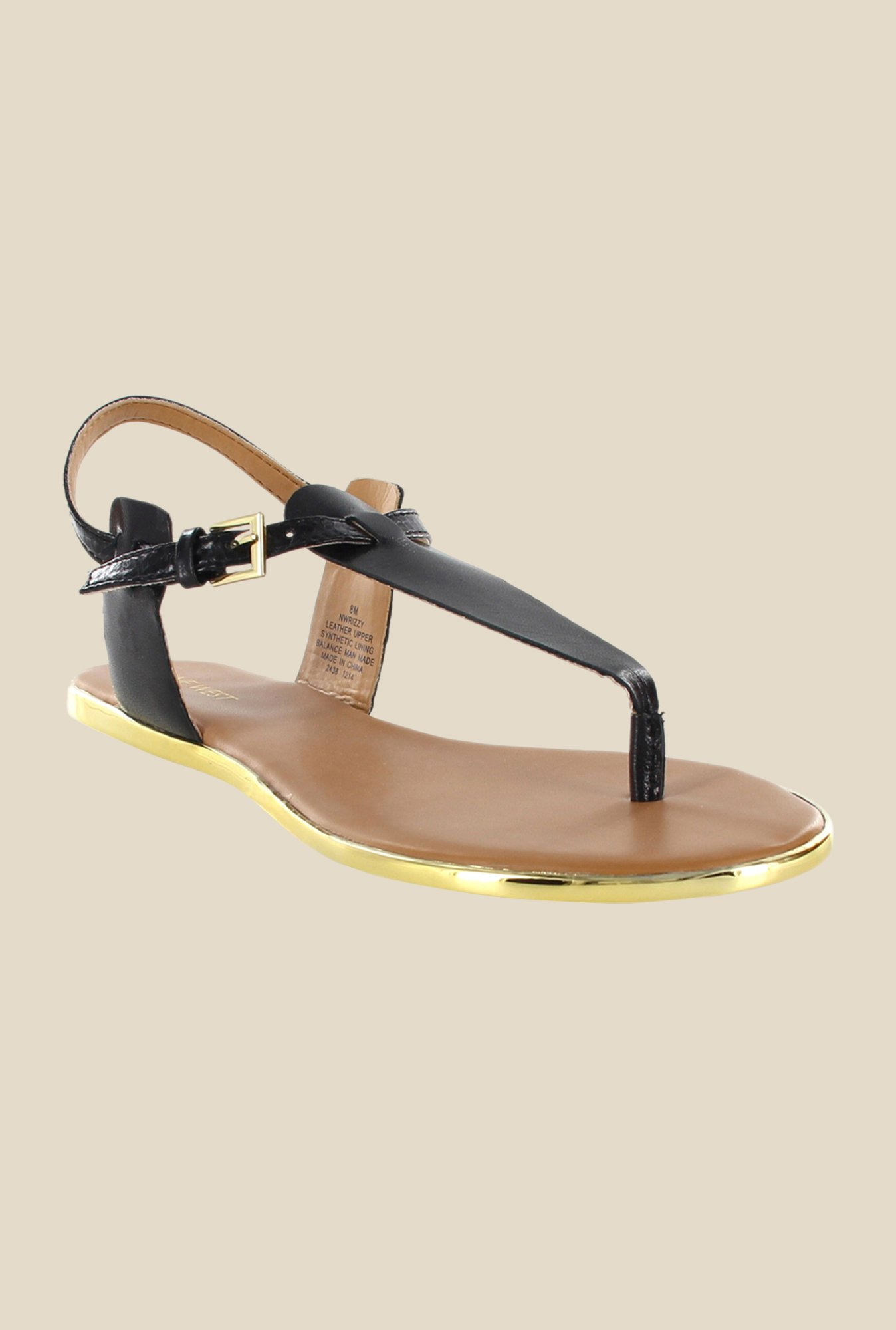 Nine West Black Ankle Strap Sandals