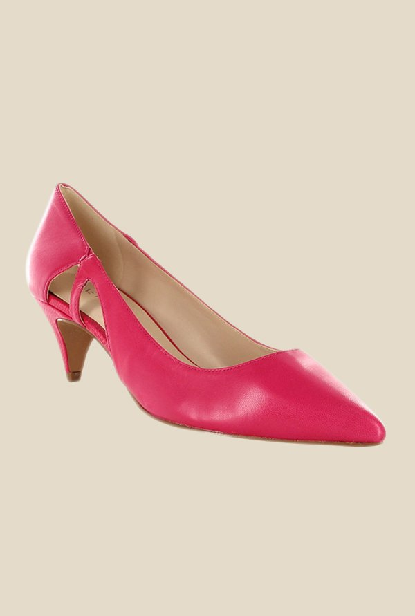 Nine West Pink Cone Heeled Pumps