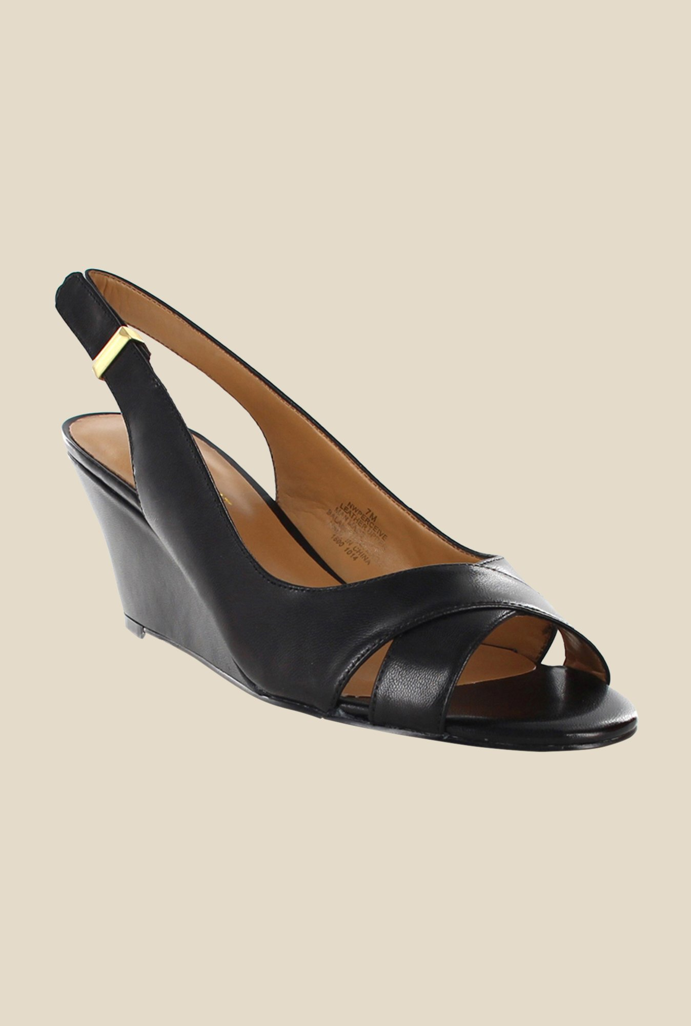 Nine West Black Sling Back Wedges