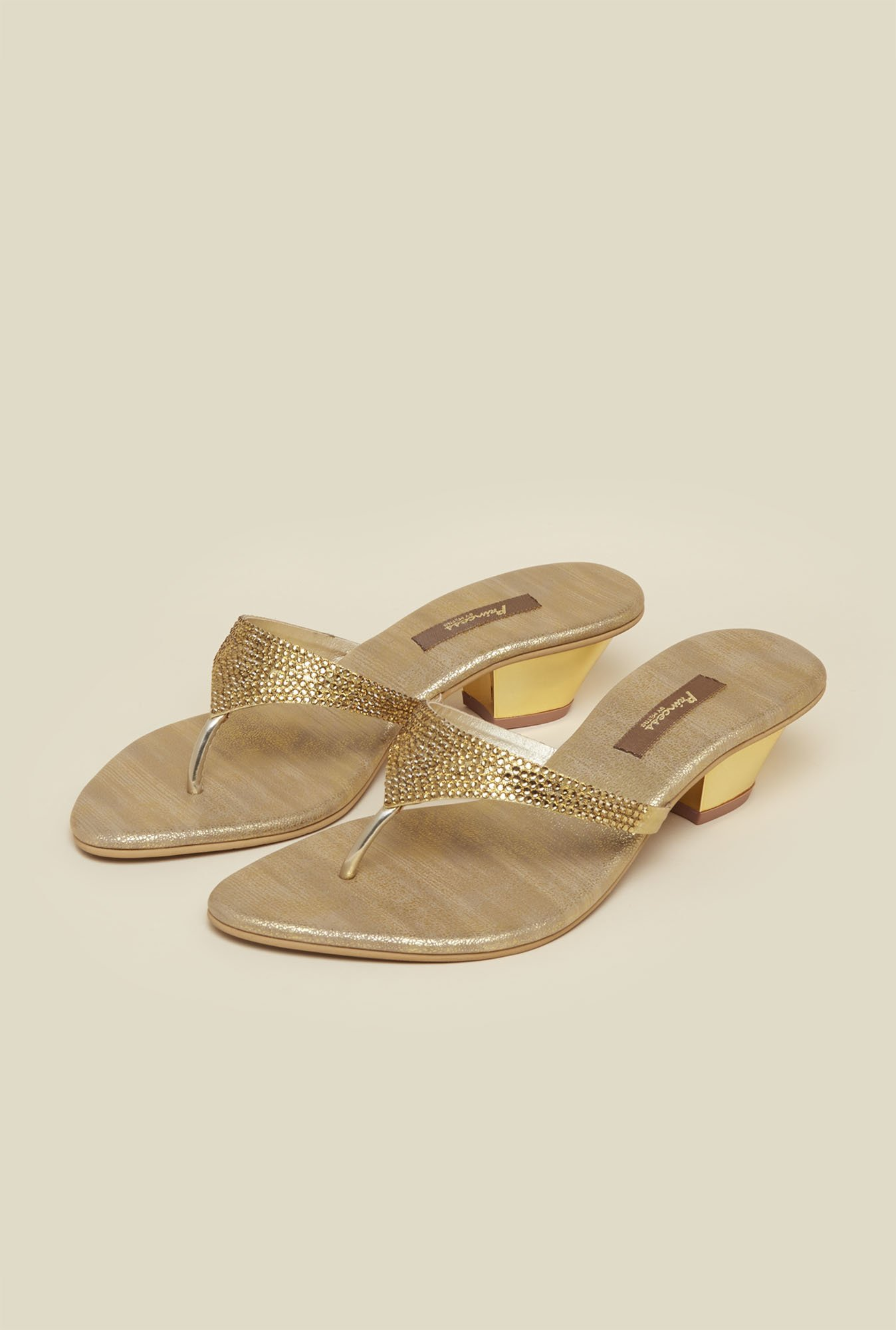 Princess by Metro Gold Block Sandals