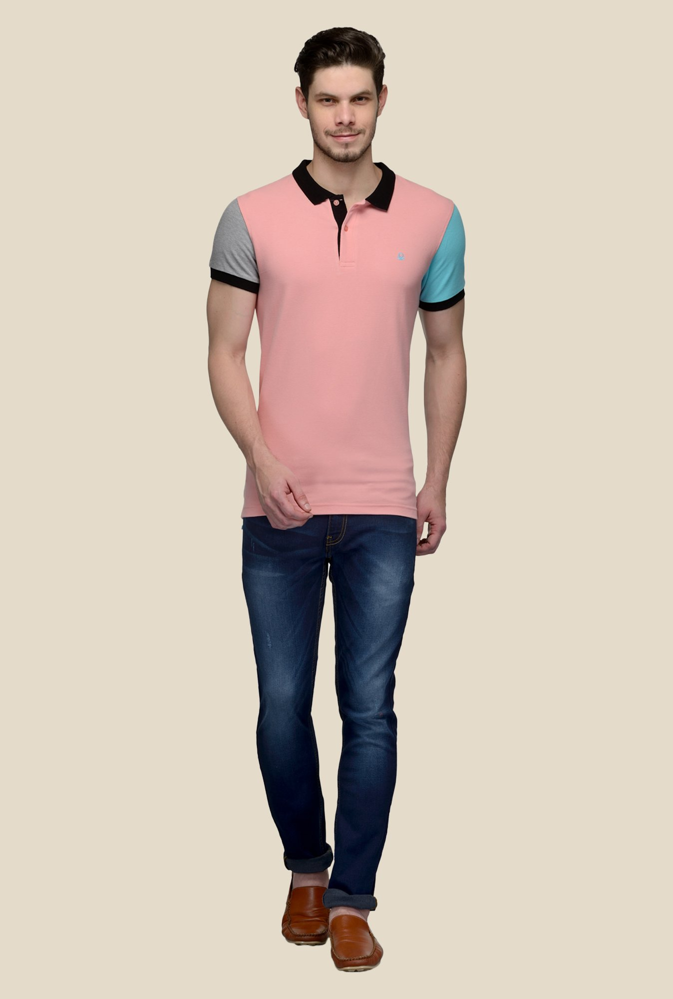 United Colors of Benetton Pink Polo T-shirt