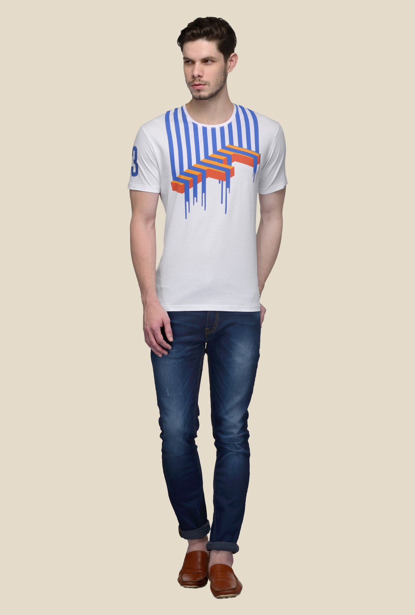 United Colors of Benetton White Crew Neck T-shirt