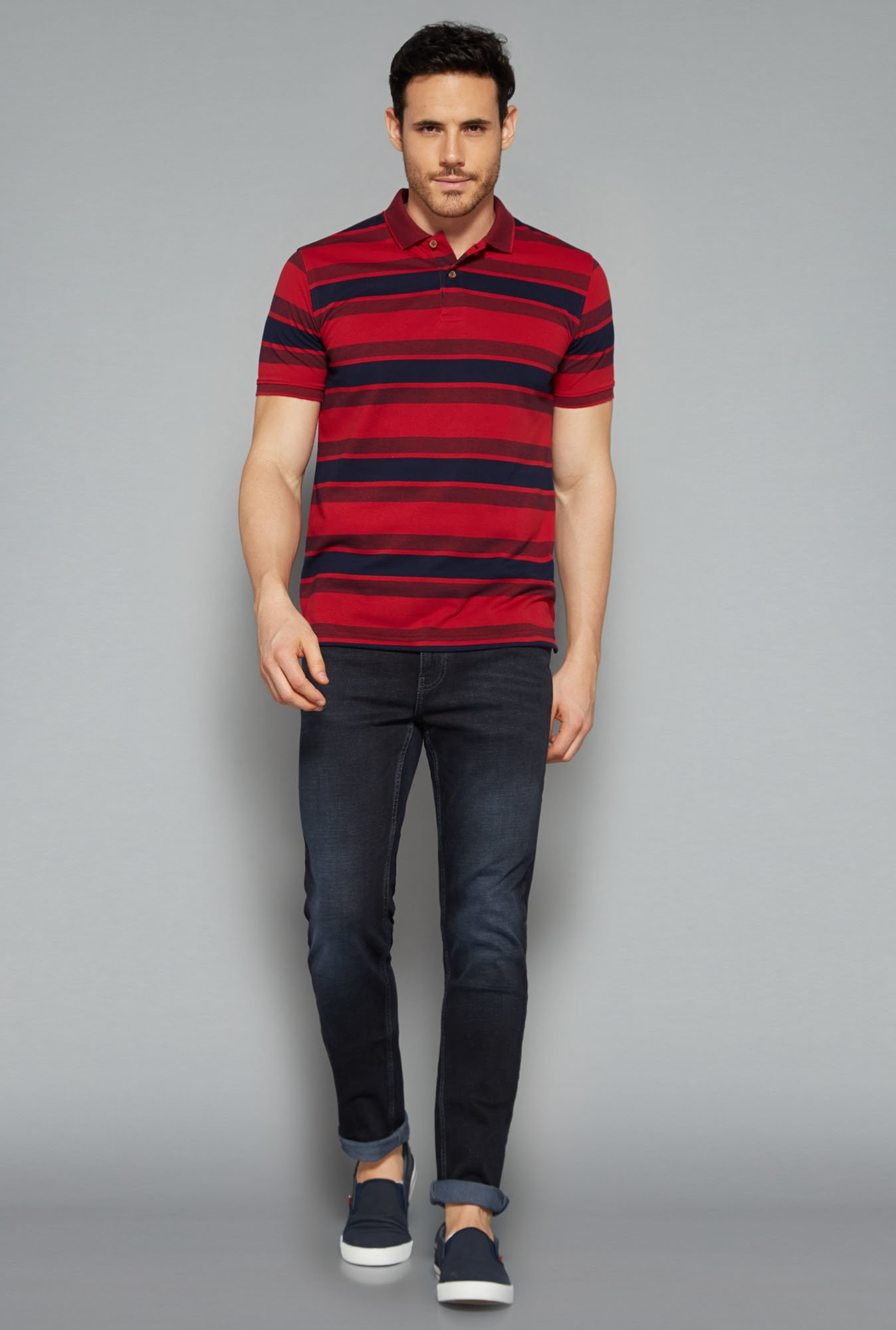 Westsport by Westside Red Polo T Shirt