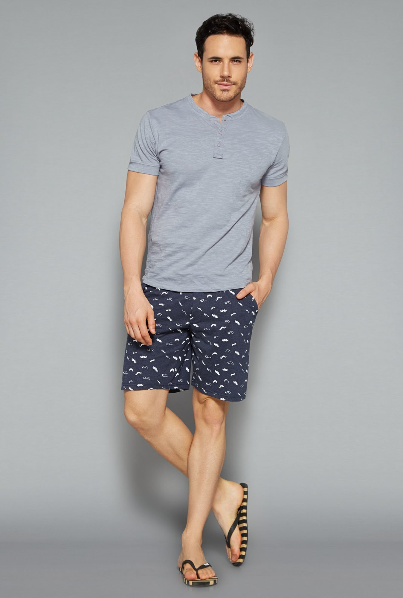 Bodybasics by Westside Navy Printed Shorts