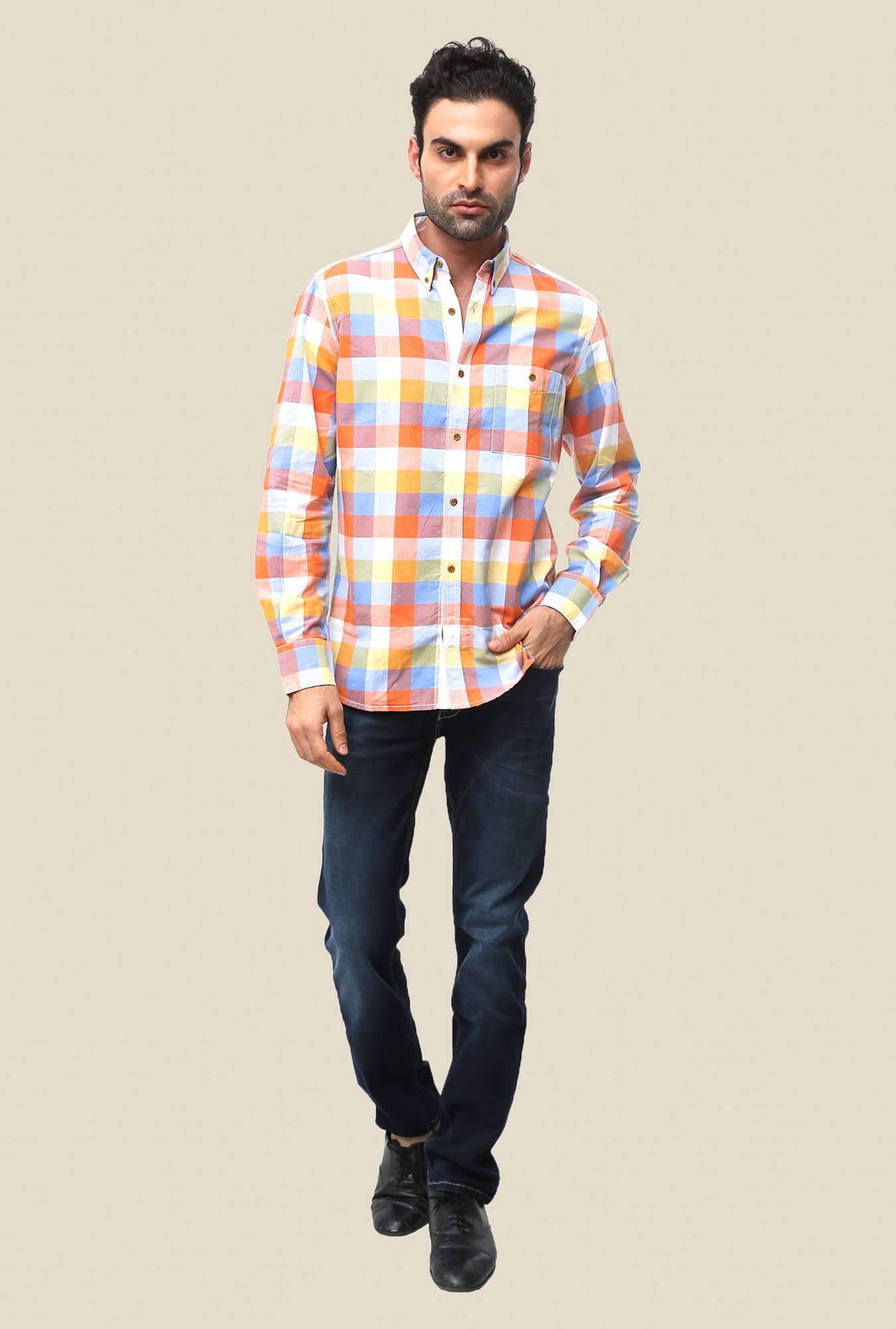 FCUK Multicolor Full Sleeve Checks Shirt