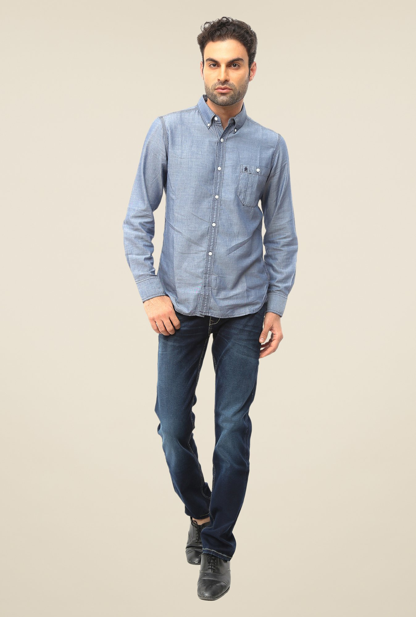 FCUK Grey Solid Shirt