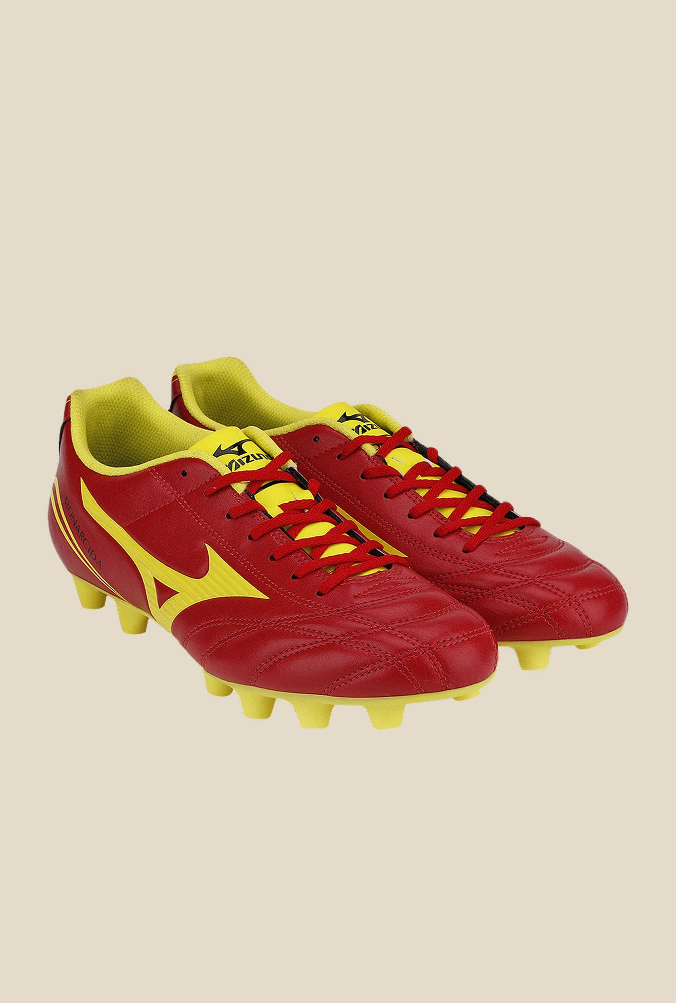 Mizuno Monarcida FS MD (Wide) Red & Green Football Shoes