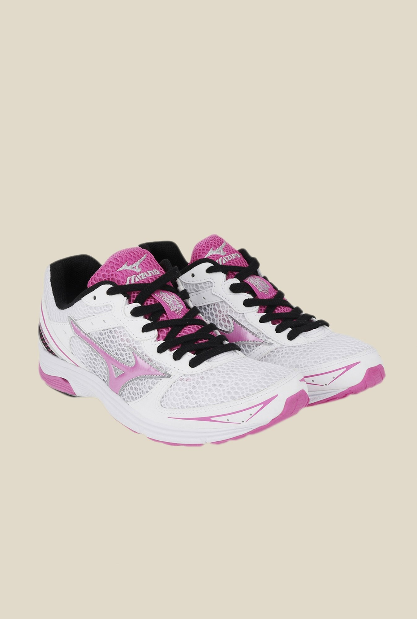 Mizuno Wave Emperor TR White & Pink Running Shoes