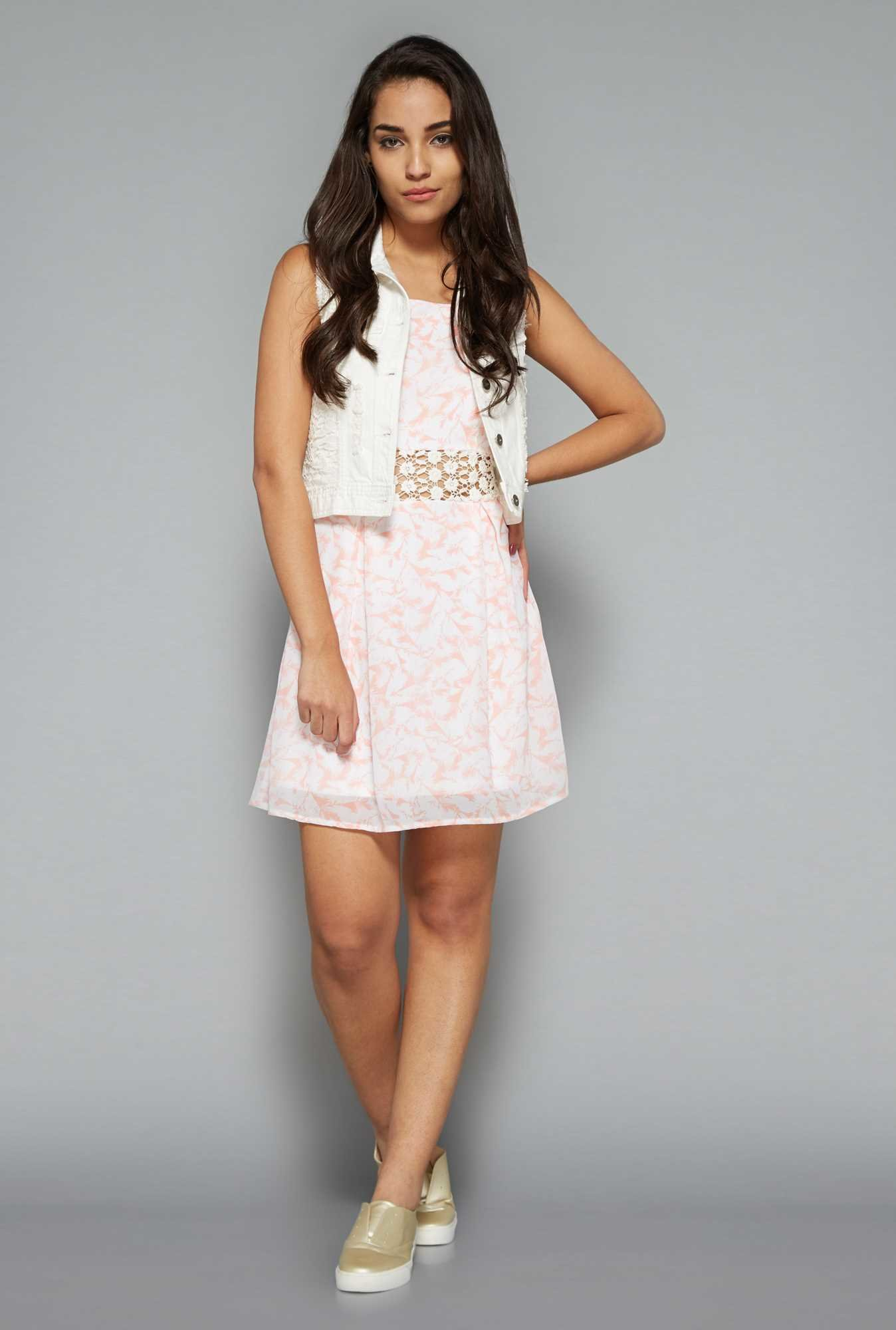 Nuon by Westside Pink Lace Dress