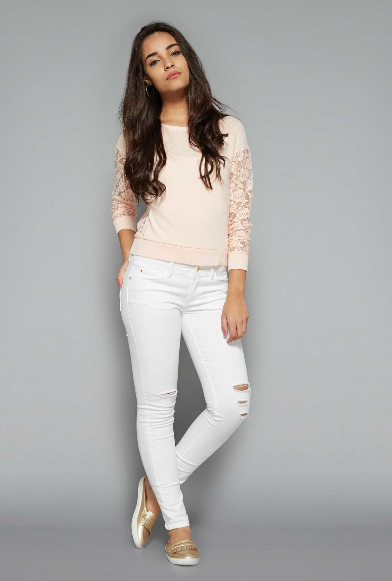 Nuon by Westside Pink Solid Top
