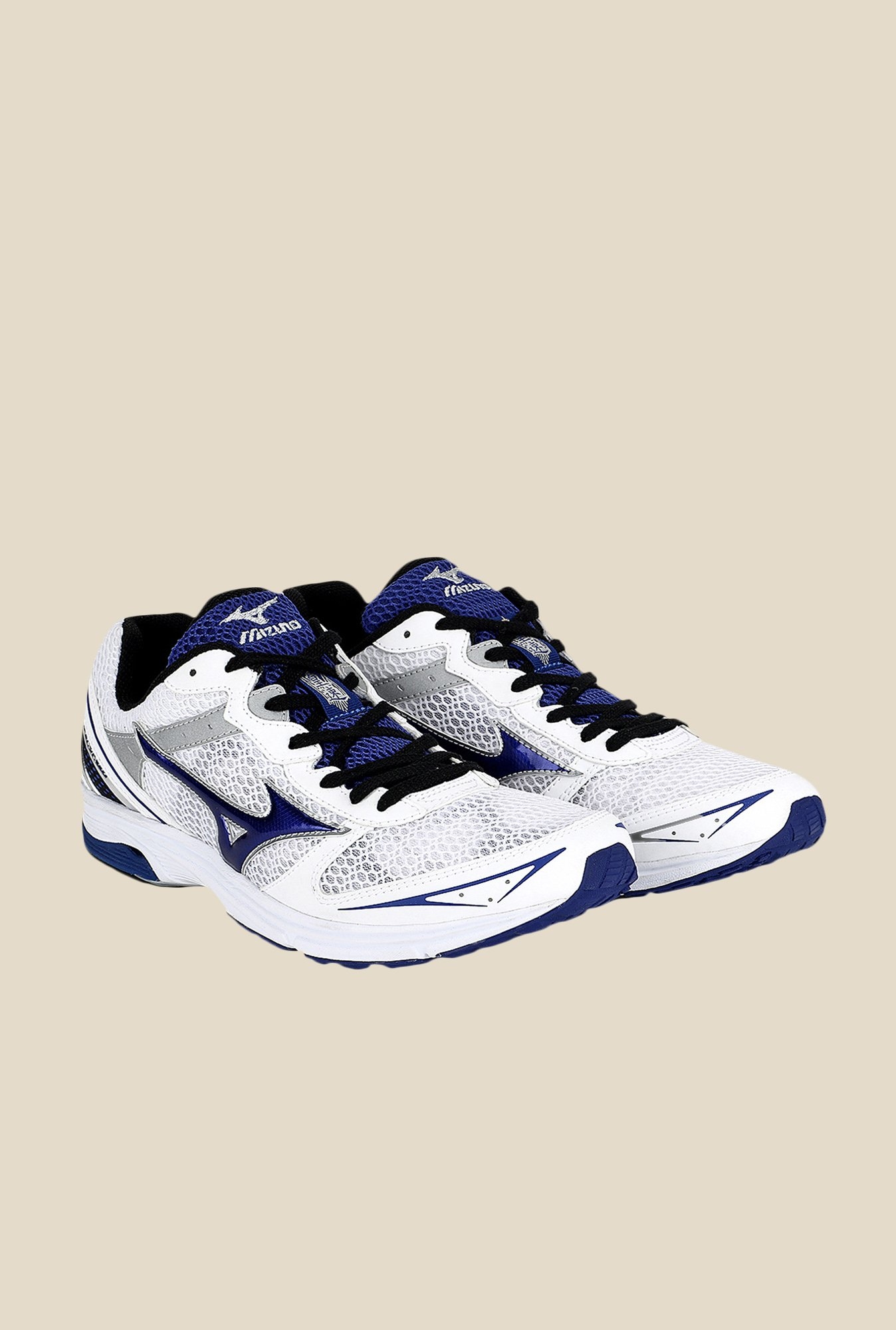 Mizuno Wave Emperor TR White & Blue Running Shoes