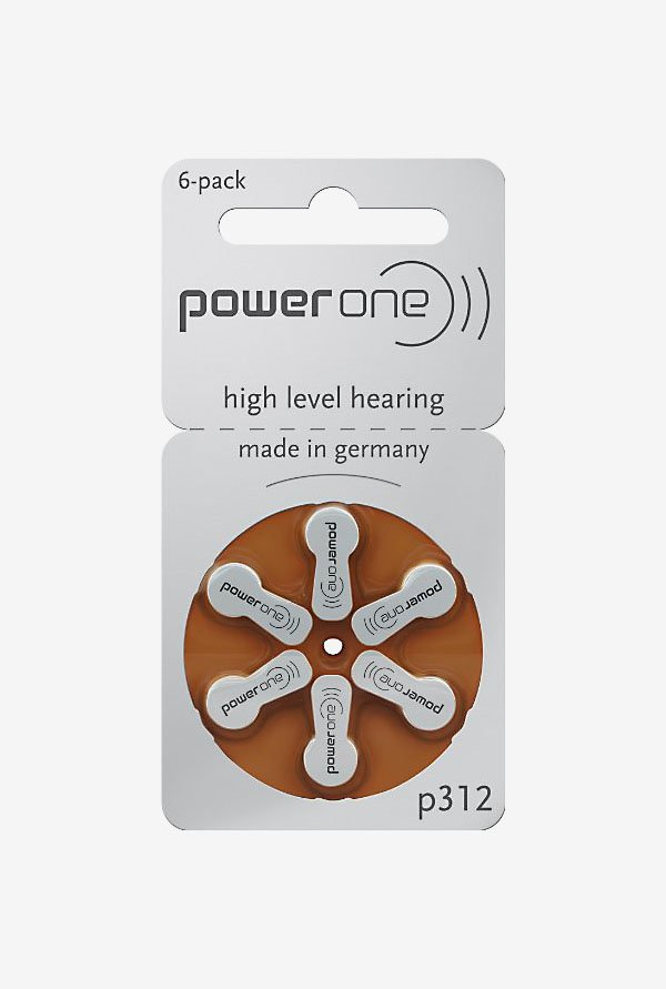 Power One P312 Hearing Aid Battery White