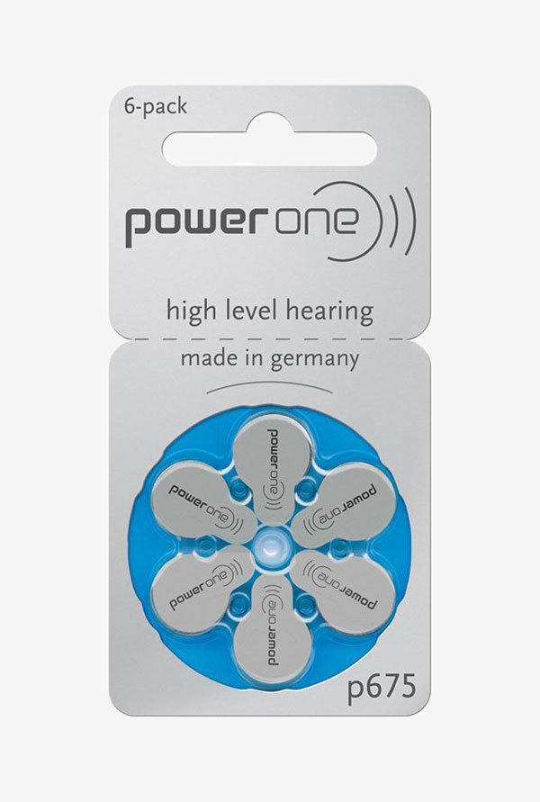 Power One P675 Hearing Aid Battery White