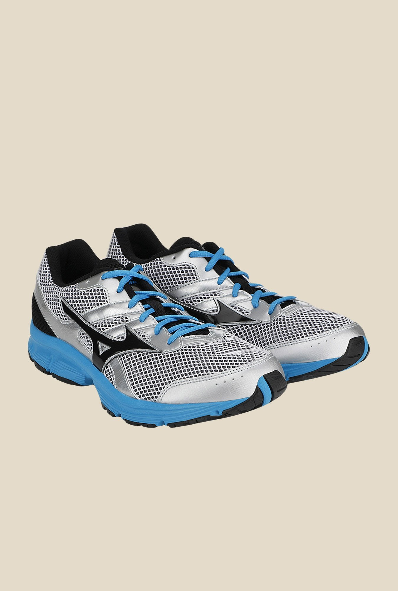 Mizuno Spark Silver & Black Running Shoes