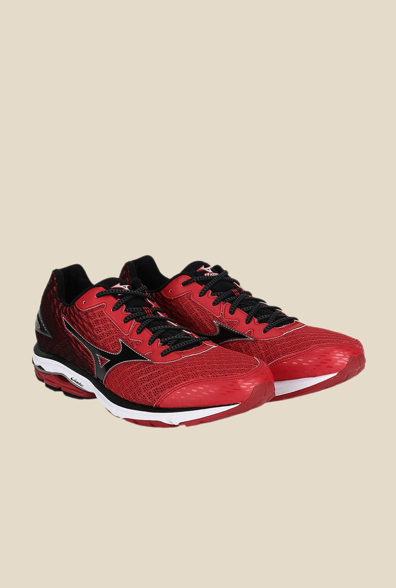 Mizuno Wave Rider 19 Red & Black Running Shoes
