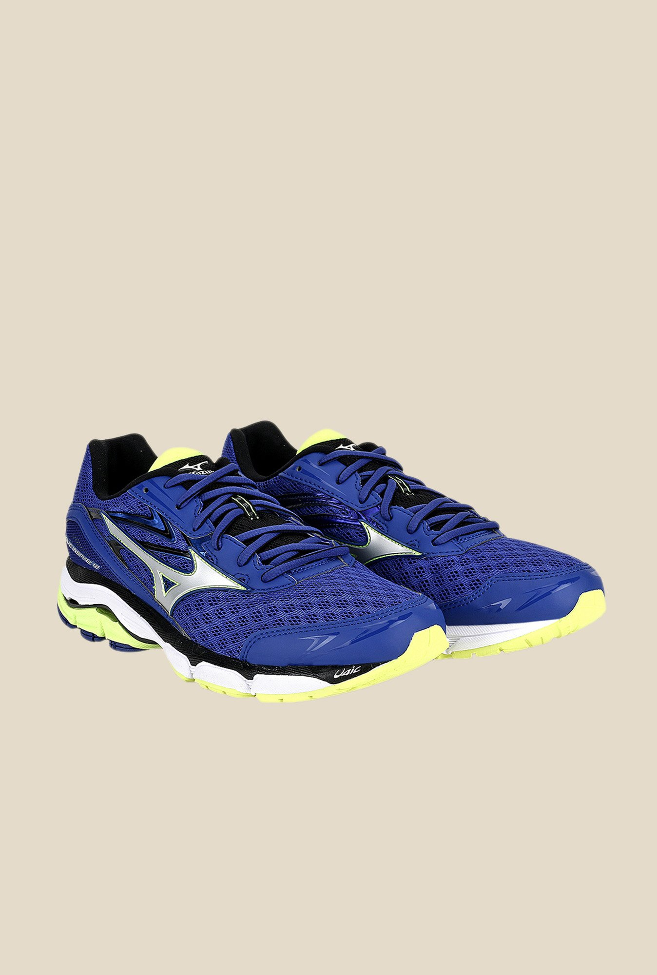 Mizuno Wave Inspire 12 Blue & Silver Running Shoes