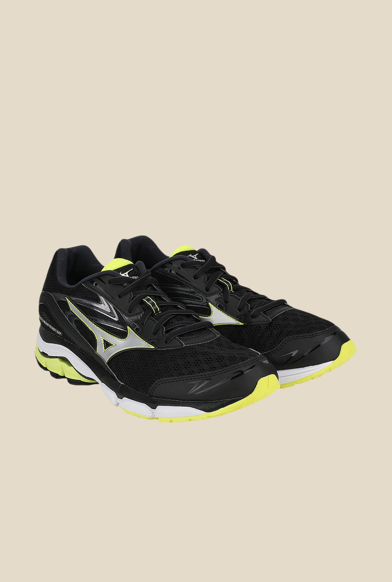 Mizuno Wave Inspire 12 Black & Silver Running Shoes