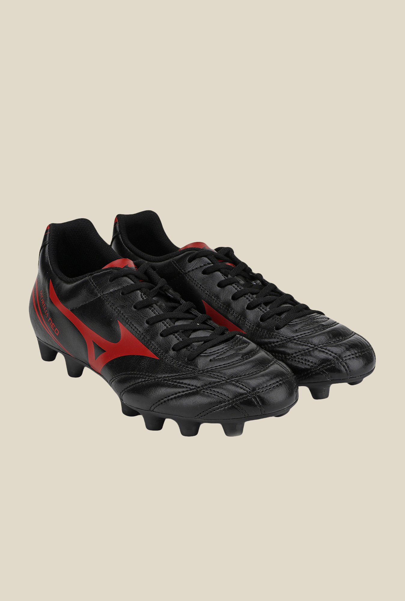 Mizuno Morelia Neo CL MD Black & Red Football Shoes