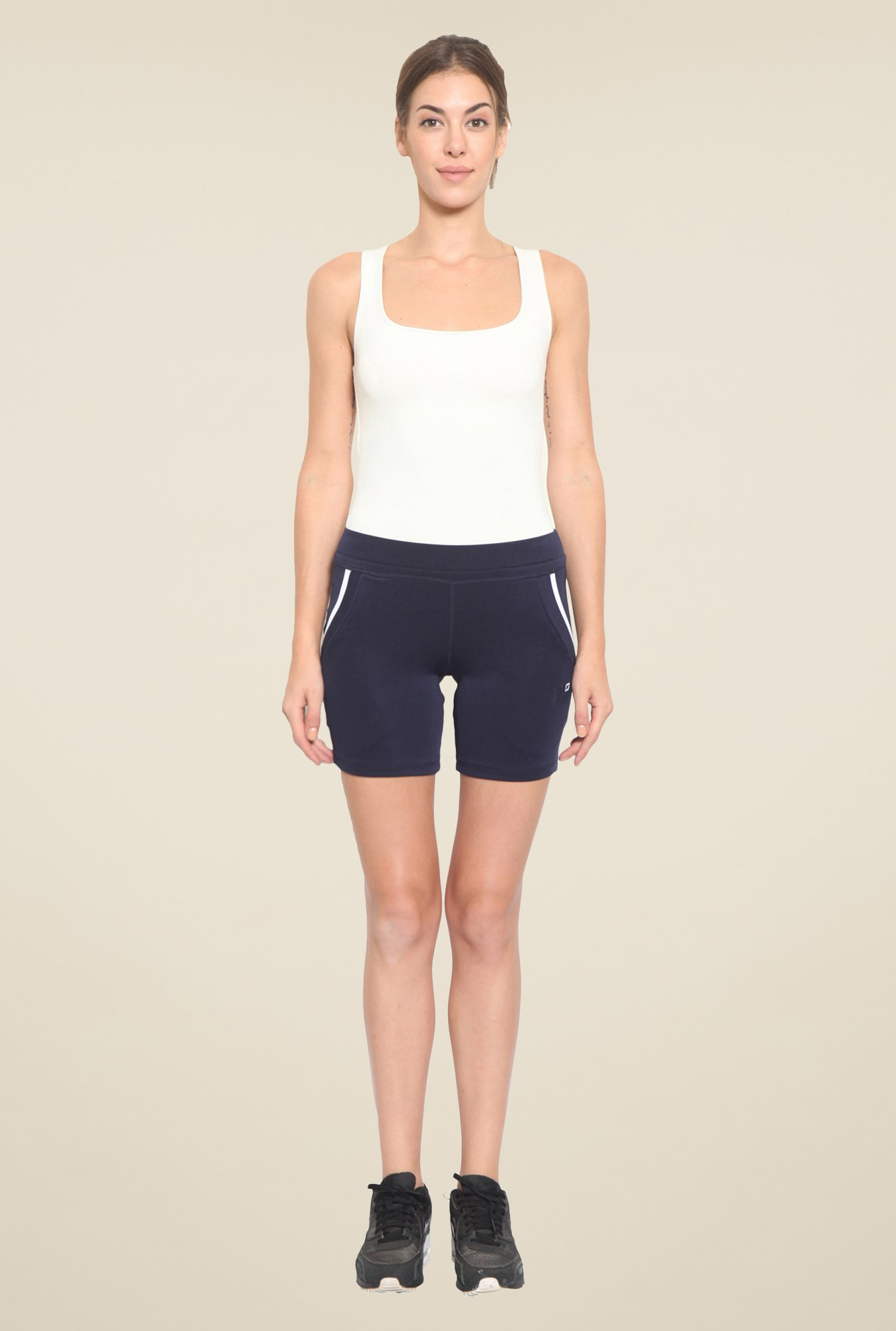 Sweet Dreams Nick Navy Comfort Fit Solid Shorts