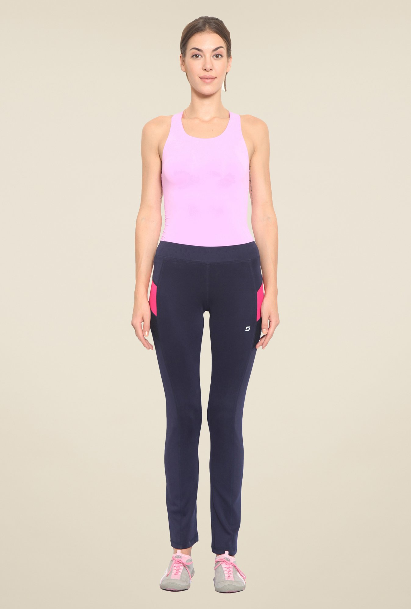 Sweet Dreams Navy Comfort Fit Solid Trackpant