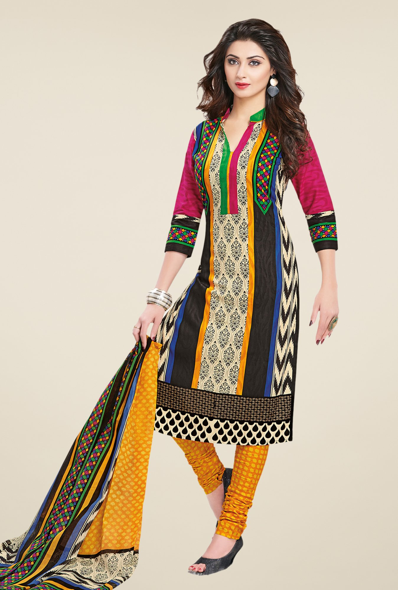 Salwar Studio Multicolor Regular Wash Dress Material