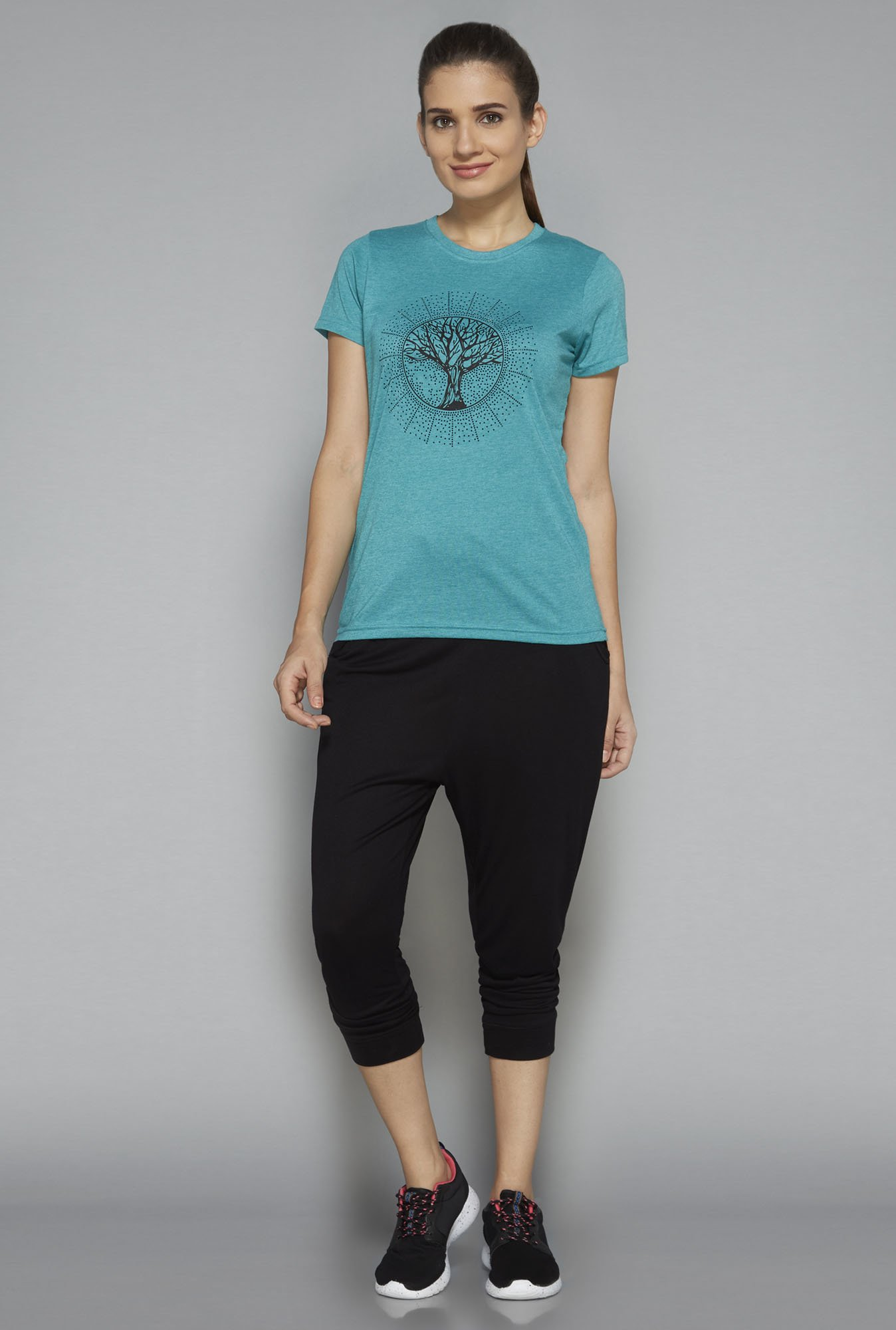 Westsport by Westside Turquoise Printed T Shirt