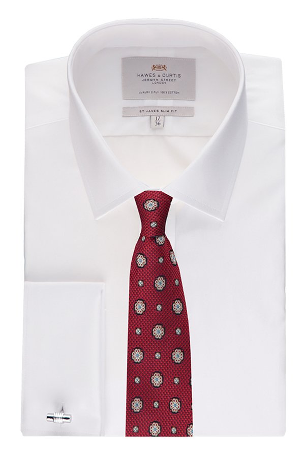 Hawes & Curties White St James DC Poplin Shirt