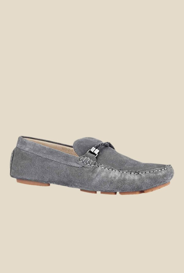 Tresmode Grey Casual Loafers