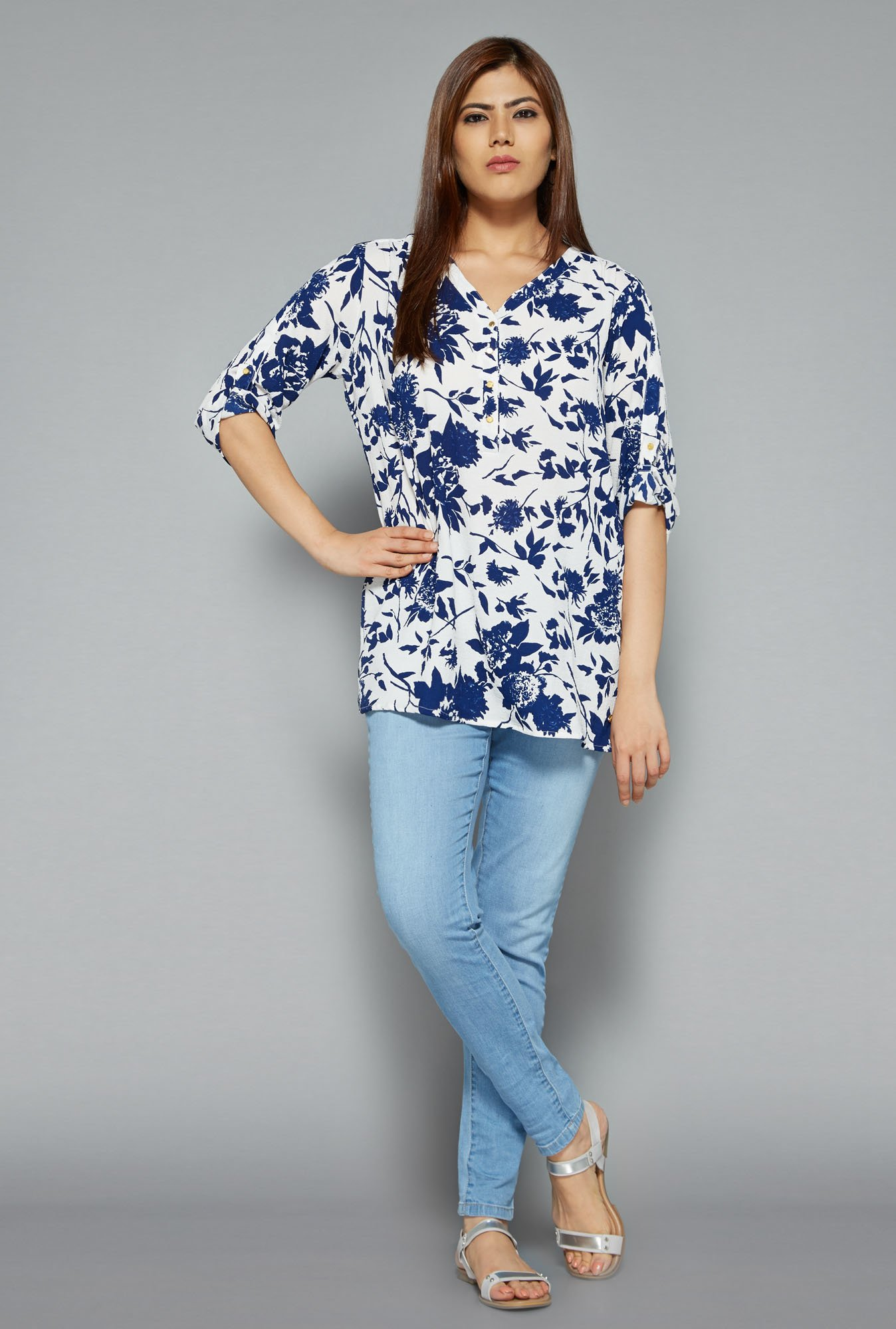 Gia by Westside White Cara Blouse