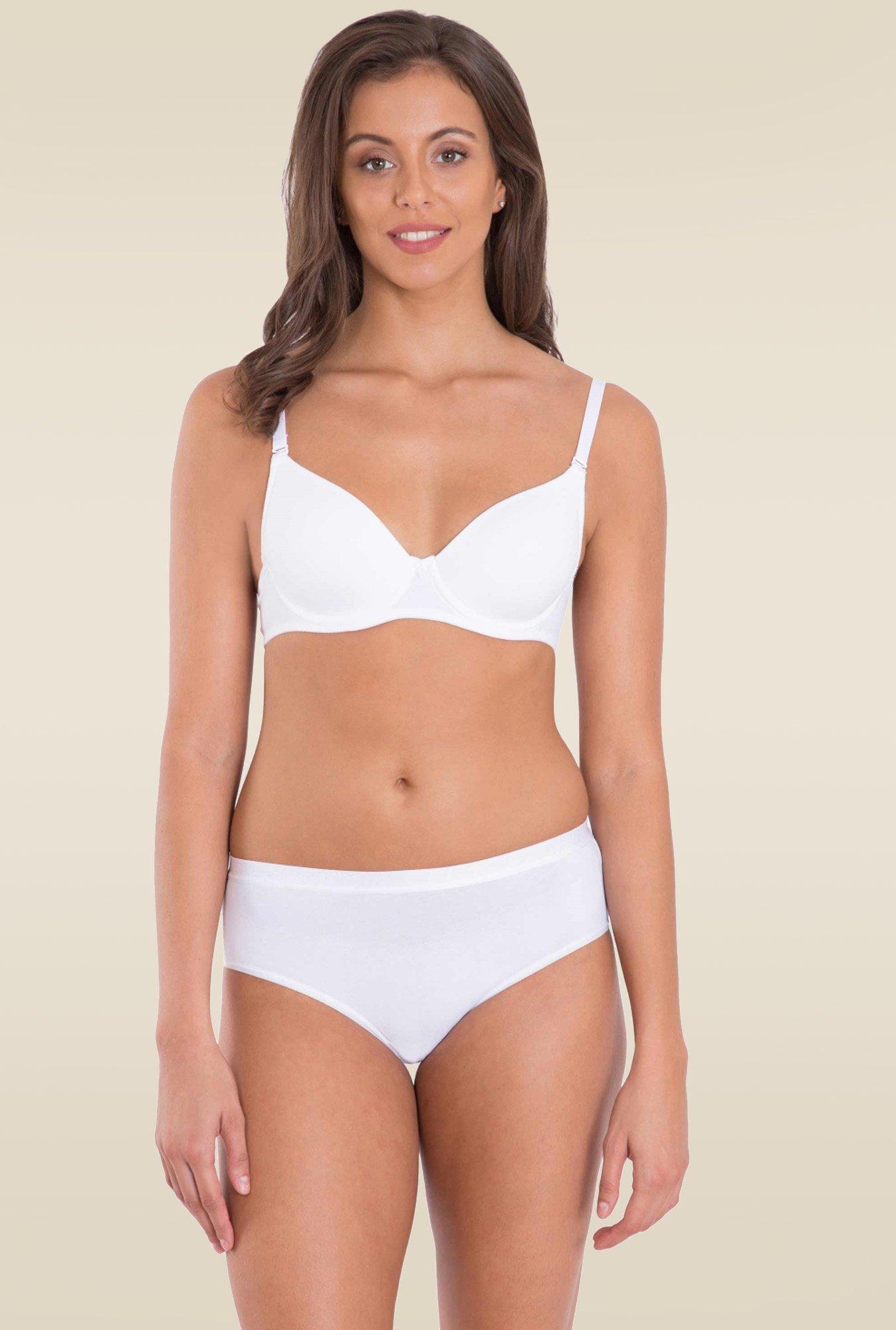 3df5c67416c59 Jockey White T-Shirt Bra - 1245