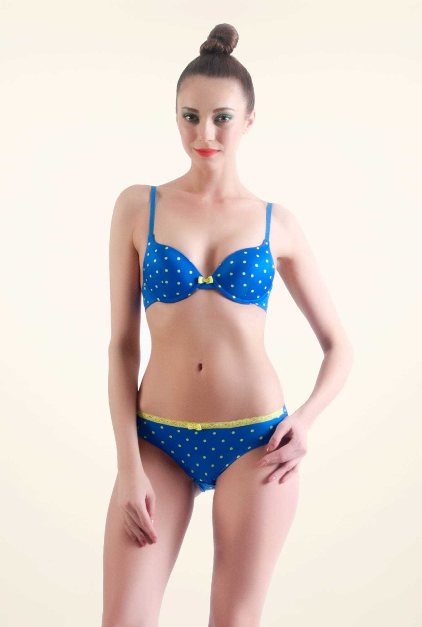 Bwitch Blue Polyamide Front Open Bra